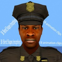 3d police animation model