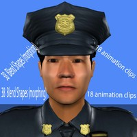 3d model police animation