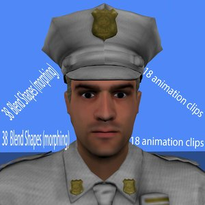 3d max police animation
