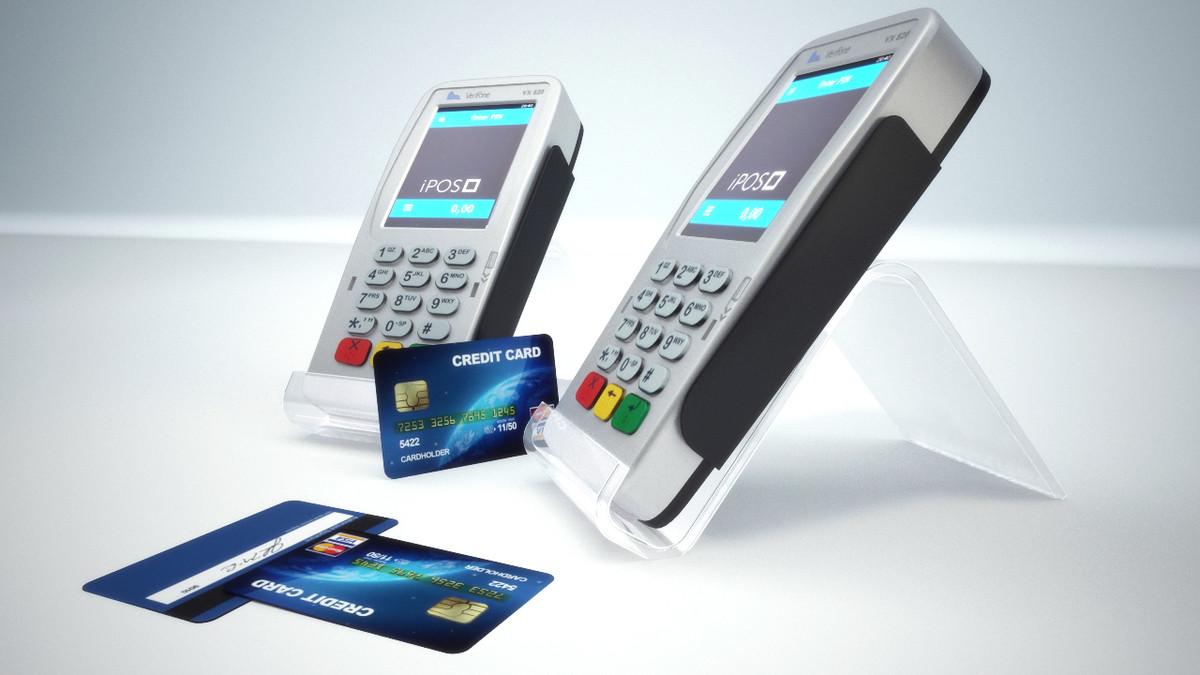credit card terminal 3d obj