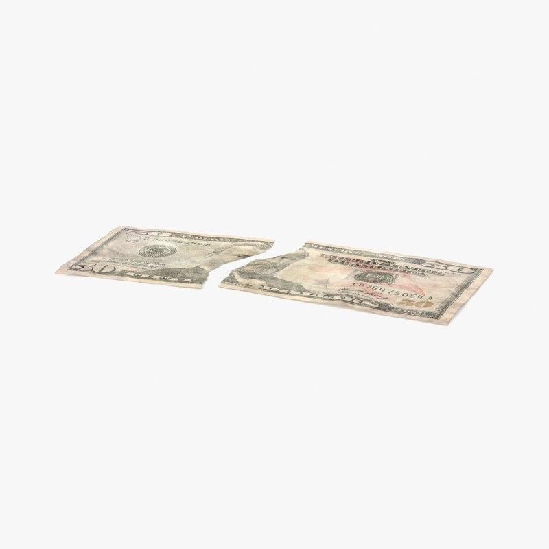 50 dollar bill torn max