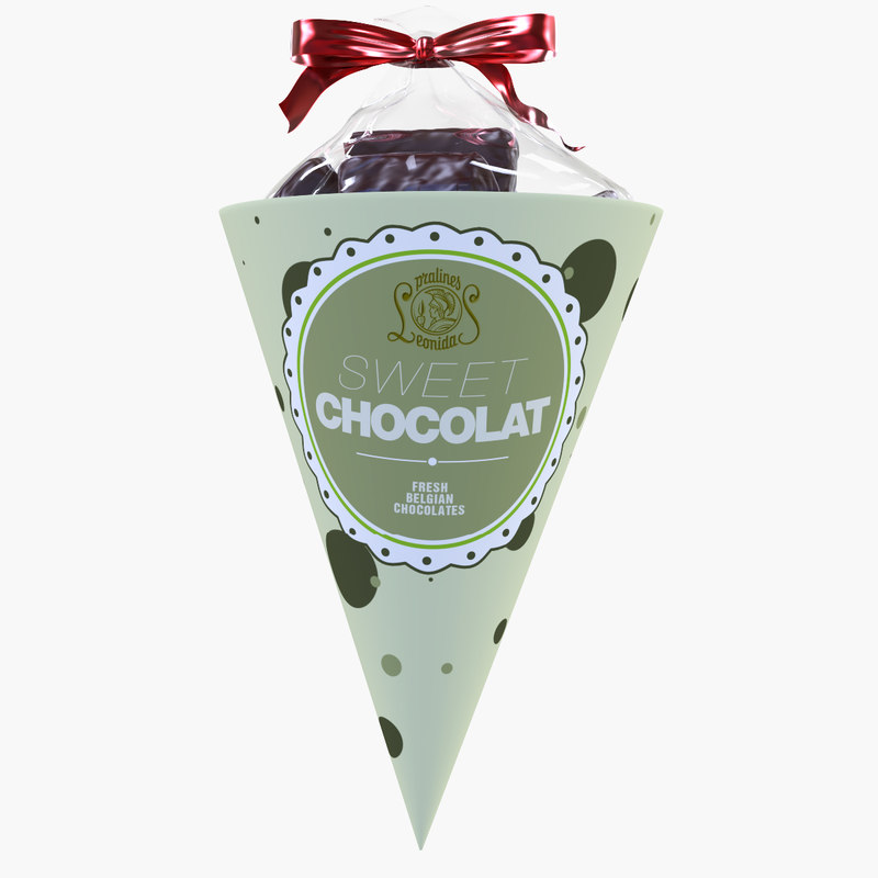 chocolats sweet 3d model