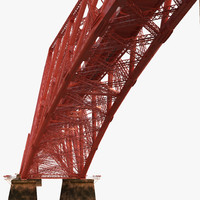 forth rail bridge 3d obj