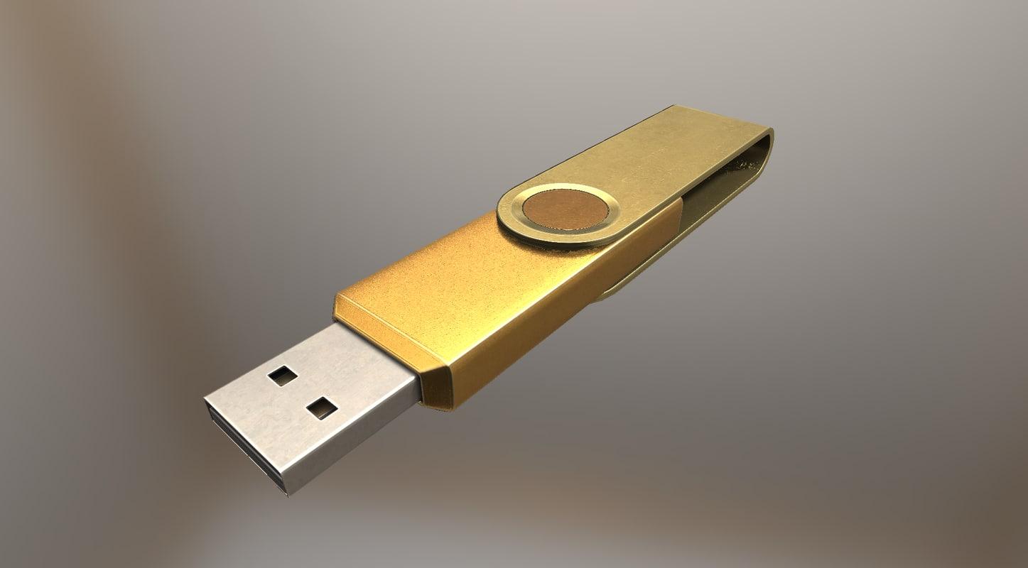 version usb stick gold 3d 3ds