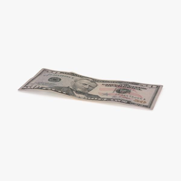 max 50 dollar bill single