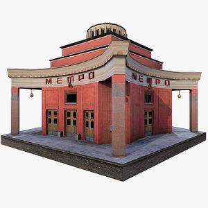 3d model arbat metro moscow