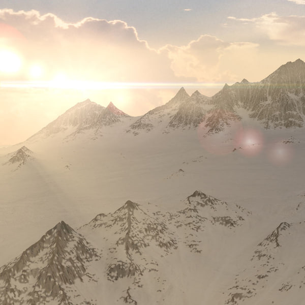3d max mountains landscape terrain