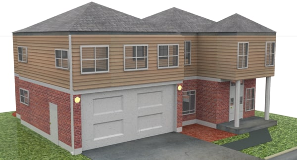 free v-ray home 3d model
