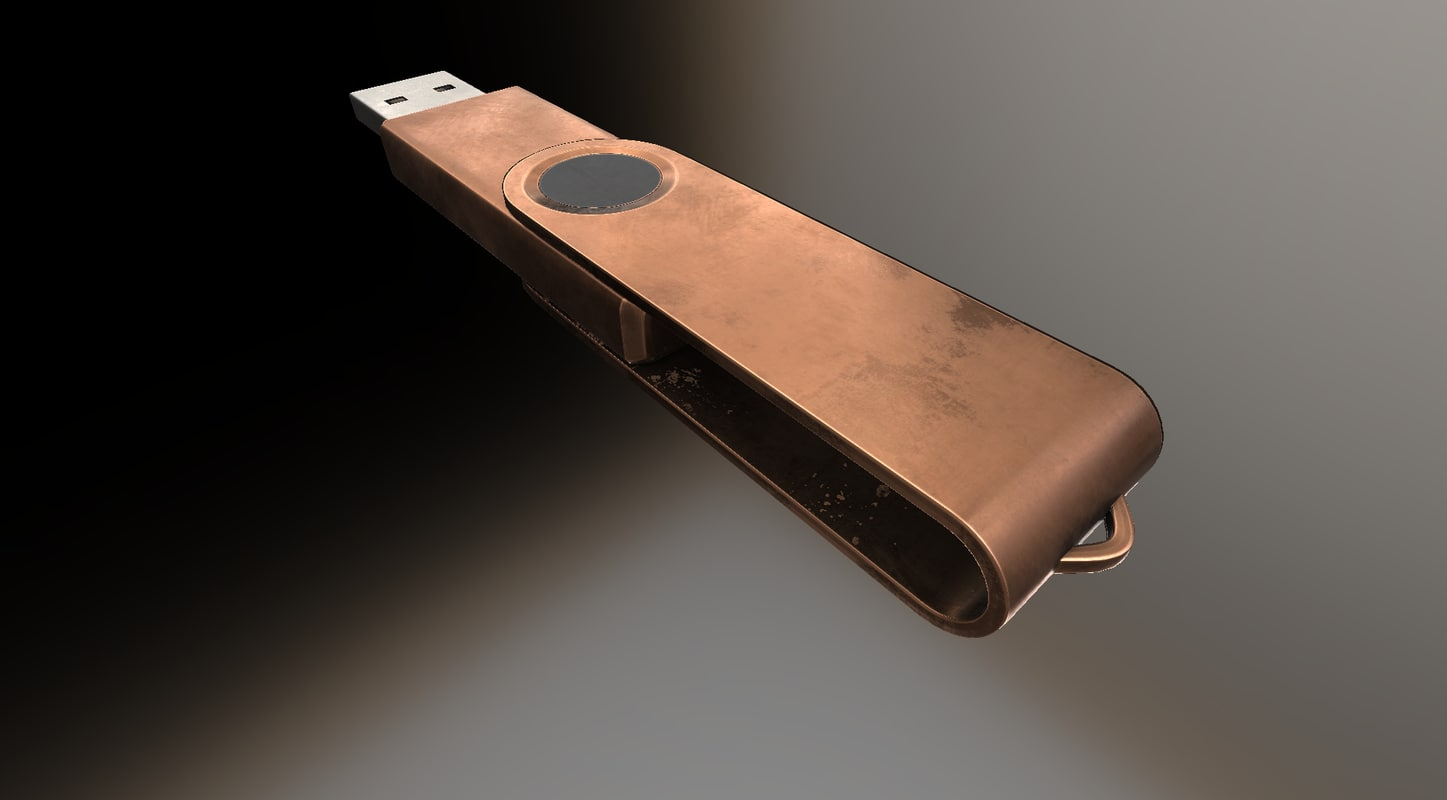 low-poly version usb stick 3d model