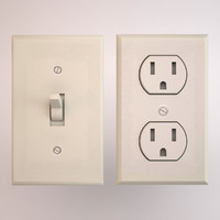 3d model of electrical socket