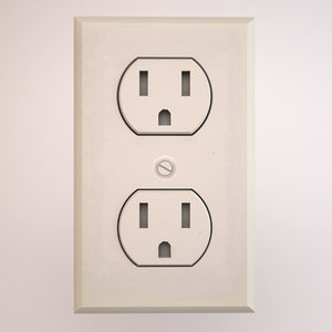 3d model electrical socket