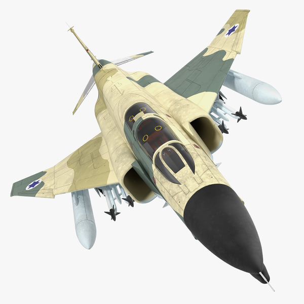 f-4e kurnass israeli air force 3d model
