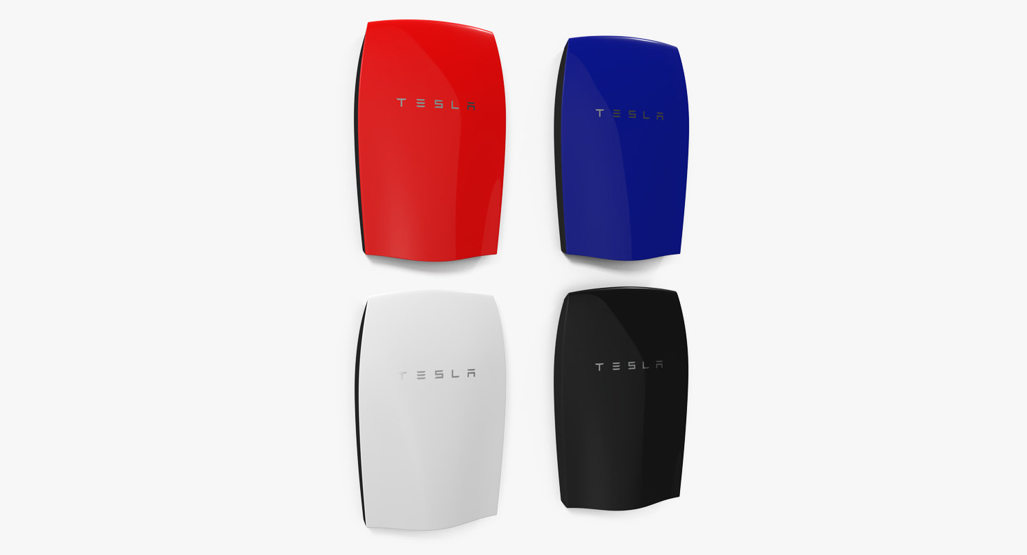 tesla powerwall set 3d 3ds