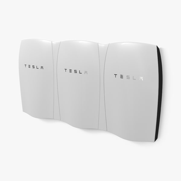 3d tesla powerwall triple unit