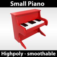3d small piano model