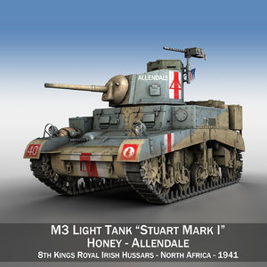 3d 3ds british - m3 light tank