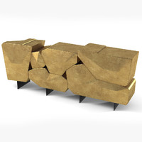 3d model bat eye stone sideboard