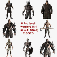 rigged warriors collections 3d 3ds