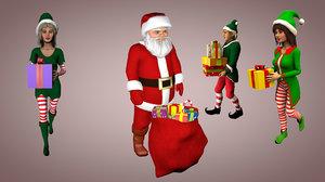 3d christmas pack model