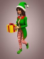 3d model christmas elf