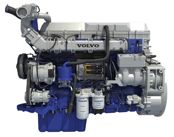 2017 powertrain d13 engine 3d model