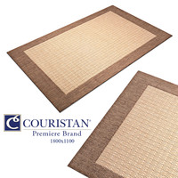 Carpet Couristan Checkered_Field Rug in Natural Cocoa