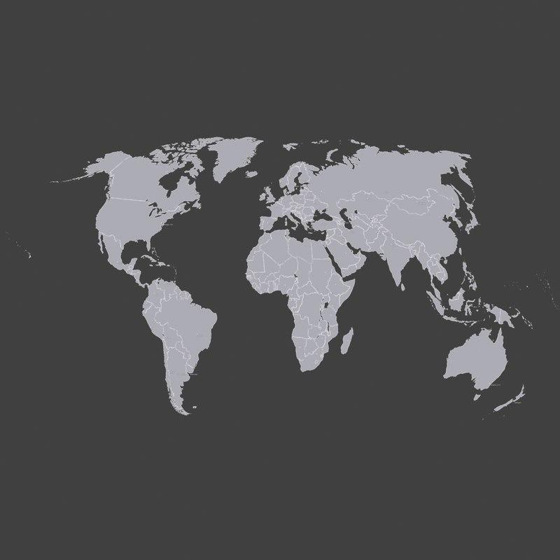 3d world political 3d world political map gumiabroncs Choice Image