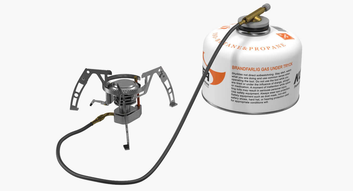 camping gas stove 2 3d model