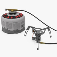 camping gas stove 3 3d max