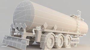 3D fuel tank trailer model