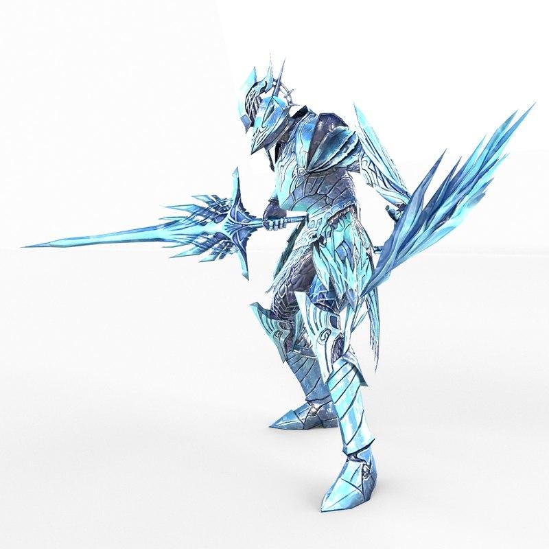 3d knight fantasy model