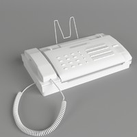 3d office fax machine model