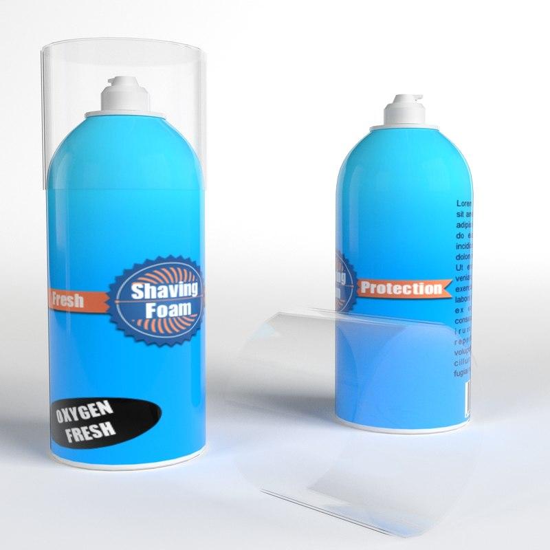 shaving foam bottles 3d max