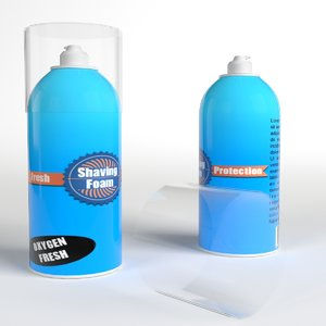 shaving foam bottles 3d max