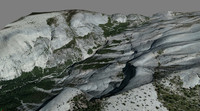 mesh yosemite clouds rest 3d model