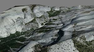 mesh yosemite clouds rest 3d model