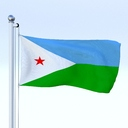 Djibouti flag 3D models