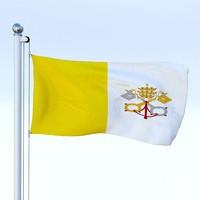 3d flag pole model