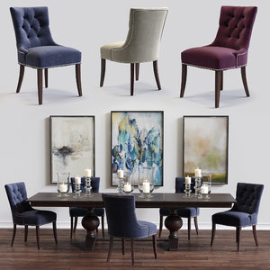 cecelia armchair winnetka table 3d max
