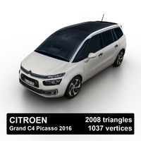 2016 citroen grand c4 picasso 3d model