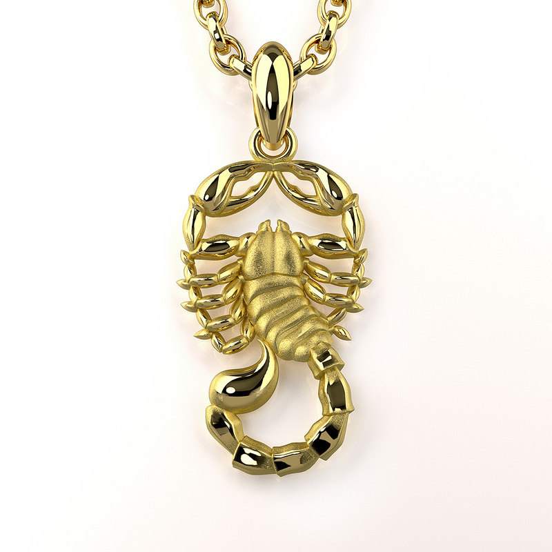 scorpio zodiac sign pendant 3ds