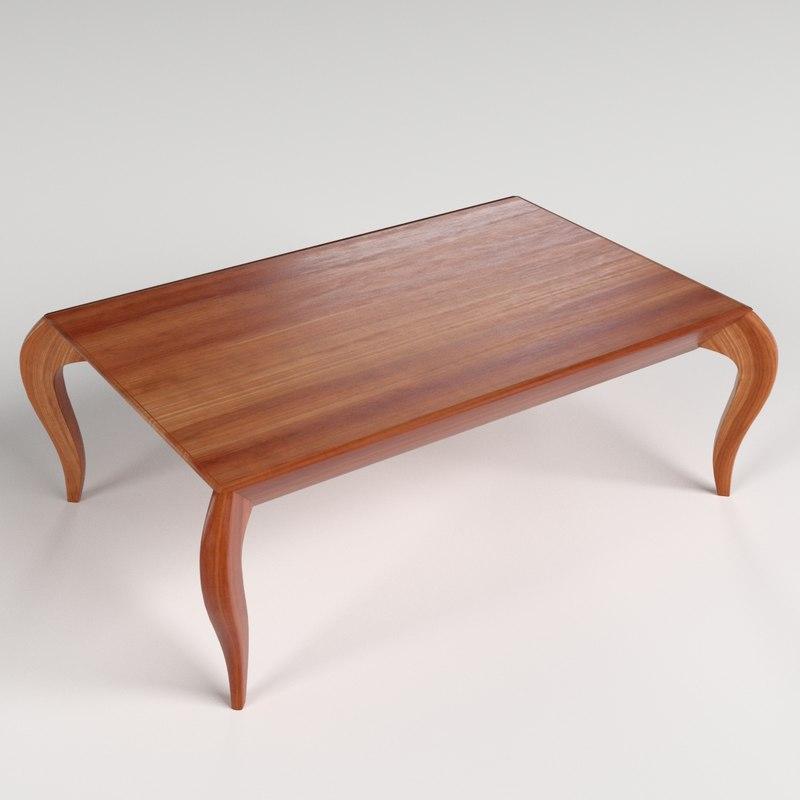 small table 3 3d obj
