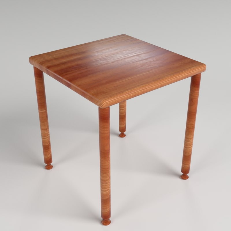 small table 4 3d model