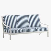 quadratl sofa 3 seat 3d max