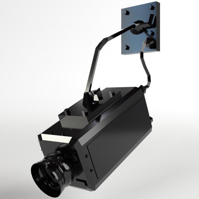 3d model surveillance camera