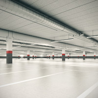 underground garage 3d max