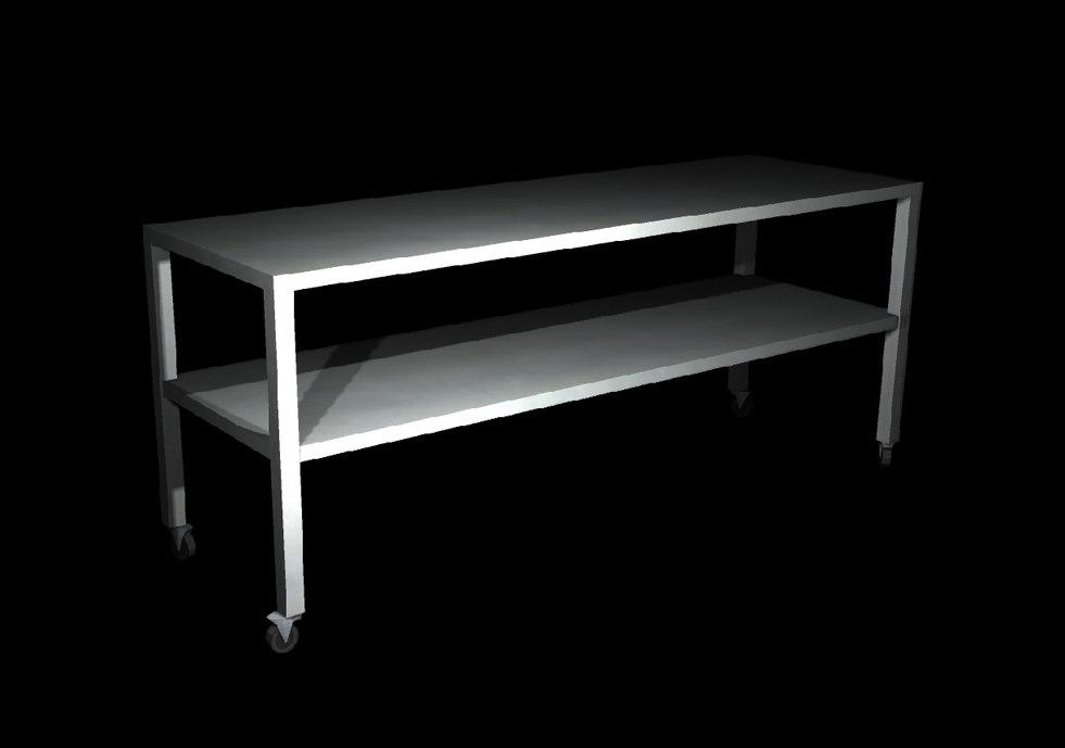 3d metal kitchen bench