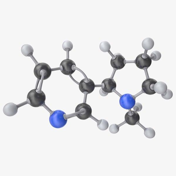nicotine molecule 3d model