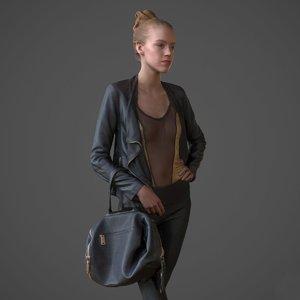 female realistic 3d model