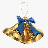 xmas bells 3d